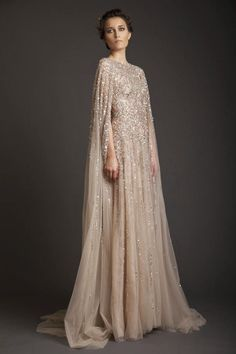 Cheap evening dress, Buy Quality long evening dress directly from China long formal dress Suppliers: Vestidos De Fiesta 2017 Sparkly Krikor Jabotian Long Evening Dresses Robe De Soiree o-neck Beaded chiffon Long Formal Dresses Prom Dresses, Formal Dresses, Elegant Dresses, Dresses 2016, Long Dresses, Formal Gowns With Sleeves, Flapper Dresses, Ivory Dresses, Formal Prom