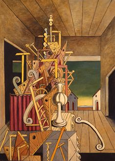 Art History News: Giorgio de Chirico and Greece: Voyage through Memory - Harmony of Solitude Italian Painters, Italian Artist, Traditional Paintings, Contemporary Paintings, Fantastic Art, Surreal Art, Les Oeuvres, New Art, Art History