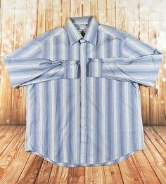 #EnricoVenturi Mens Sky Blue #Pinstripe #ButtonUp #DressShirt #MadeinItaly XXL