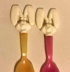 Details about Vintage Trix Cereal Rabbit Spoons Rare General Mills  Advertising 3913faa875ec
