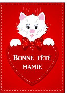 Carte Petit chat bonne fête mamie pour envoyer par La Poste, sur Merci-Facteur ! #carte #fêtedesgrandsmères