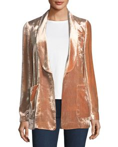 Ford Shawl-Collar One-Button Velvet Jacket by A.L.C. at Bergdorf Goodman.