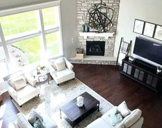 Living Room Furniture Arrangement With Corner Tv How Big Should An Area Rug Be In A Small 11 Best Fireplace Images Image Result For Fireplaces Ideas