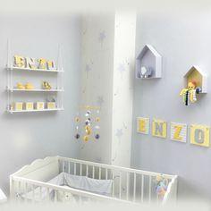 déco chambre d'enfant : collection jaune et gris