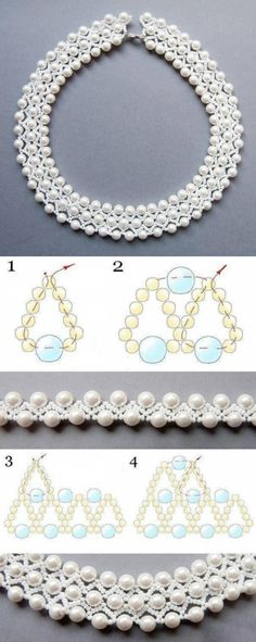 and Jewels - Diy Jewelry, . Beadwork and Jewels - Diy Jewelry, Beadwork and Jewels - Diy Jewelry, Beaded Necklace Patterns, Bracelet Patterns, Beading Patterns, Beaded Bracelets, Beading Tutorials, Beaded Earrings, Bead Jewellery, Seed Bead Jewelry, Beaded Jewelry