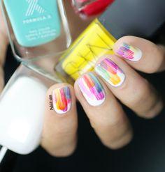 Art watercolor nails