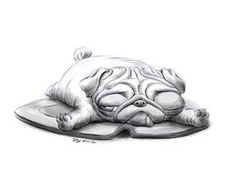 Lazy Sunday Morning Pug by TheDude-In-NavyBlue