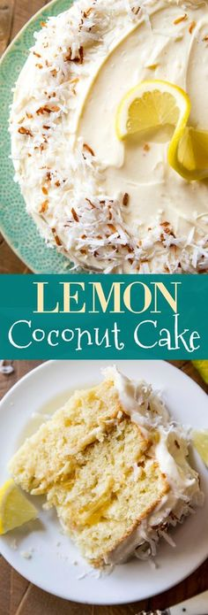 Deliciously moist, sweet, and light coconut cakes layered with homemade lemon curd and cream cheese frosting! Cake recipe on sallysbakingaddiction.com