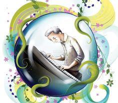 Paulo Coelho: El pianista del centro comercial / Ilustración: Vanessa Balleza