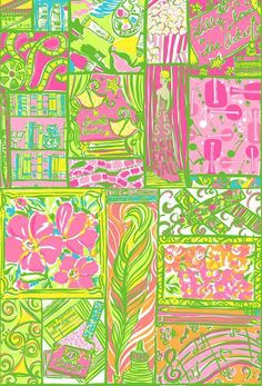 Lilly Pulitzer-Lilly Lovers the Arts The Pelican Girls WISH this had been on something other than stockings!
