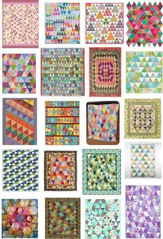 Free pattern day:  Thousand Pyramids quilts!