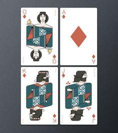 Icelandair Playing Cards by Thorbjörn Ingason, via Behance