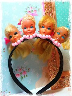 barbie heads headband