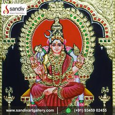 Tanjore Painting, Traditional Paintings, Interesting News, Online Painting, Durga, Paintings For Sale, Art Gallery, Colours, Drawings