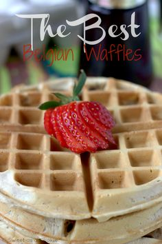 The Best Belgian Waffles via Sweet as a Cookie