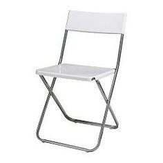 JEFF Klappstol - svart - IKEA  Till uppfällbart middagsbord när vi har gäster