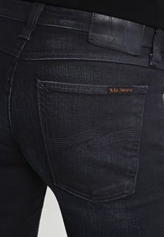 Skinny fit Nudie Jeans LIN - Jeans Skinny Fit - ink black zwartblauw denim: €…