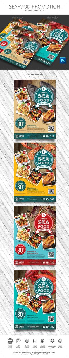 Fantastic PSD Seafood Flyer Promotion Template • Only available here ➝ http://graphicriver.net/item/seafood-promotion/16294729?ref=pxcr