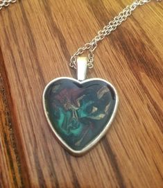 #etsynecklace ##etsyjewelry #handpainted #handmadejewelry #flowernecklace #uniquenecklace #fashionjewelry #heartnecklace #silverheart #giftidea #christmasgift #stockingstuffer https://www.etsy.com/ca/listing/525155582/silver-heart-pendant-necklace-painted