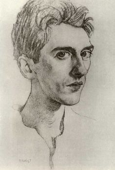Leo Bakst. portrait of Jean Cocteau