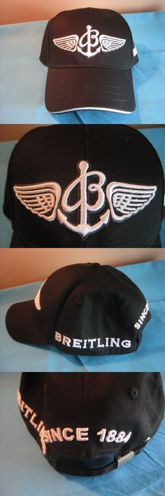 e88d9a09a5613 Hats 163543  New Breitling Baseball Logo Cap Hat Black White -  BUY IT NOW