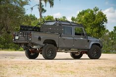 This rugged is ready to conquer any terrain imaginable. Land Rover Defender 130, Land Rover Car, Landrover Defender, Land Rovers, Lifted Ford Trucks, Jeep Truck, Toyota 4runner, Tacoma Toyota, 4x4