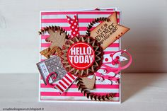 scrapbooking peanuts: Gold and Red