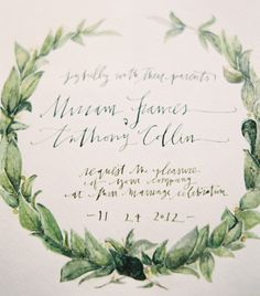 Wedding Invitation via once wed