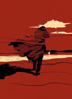New Work - Mark Smith-Folio Society - Cover art for The Singing Sands, Josephine Tey Illustration Design Graphique, Art Et Illustration, Art Graphique, Bd Cool, Art Inspo, Art Pulp, Communication Art, Grafik Design, Art Design