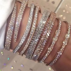fashion, diamond, and jewelry. cute silver diamond and gold glitter shiny bracelets Cute Jewelry, Body Jewelry, Jewelry Accessories, Fashion Accessories, Fashion Jewelry, Jewlery, Trendy Accessories, Hippie Jewelry, Tribal Jewelry