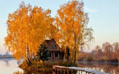 Google+ House Near Water, Cabin, House Styles, Painting, Google, Home Decor, Decoration Home, Room Decor, Cabins