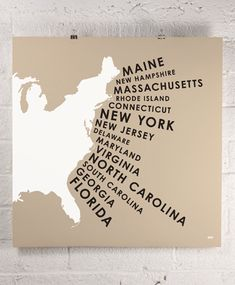 ORANGE & PARK / east coast states print