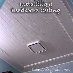 How to install a beadboard Ceiling  *DONE* #TheKimSixFix