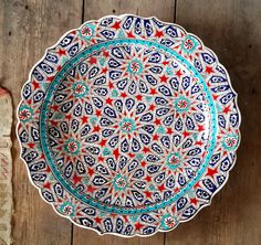 Hand Made Turkish Ceramic Plate / Wall Decor / iznik by Turqu50, $310.00