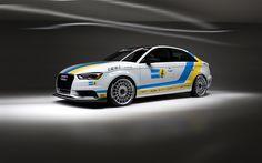 Lataa kuva ECS, tuning, 4k, Audi A3, 2017 autot, valkoinen a3, BILSTEIN, Audi