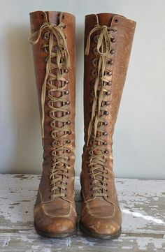 soft, vintage tan riding boots from early 1920's