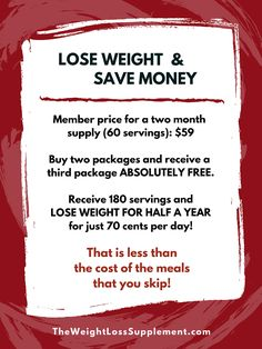 Curb your appetite so you eat less food and SAVE money!