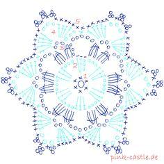 49 Ideas for crochet christmas ornaments patterns snow flake Crochet Snowflake Pattern, Crochet Stars, Crochet Motifs, Crochet Snowflakes, Crochet Diagram, Doily Patterns, Diy Crochet, Crochet Doilies, Crochet Flowers