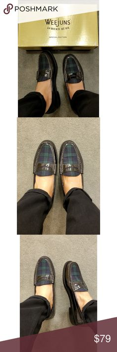 16b0c15404a G.H. Bass Tartan Plaid Weejuns G.H.Bass and Co. takes the classic loafer  and makes