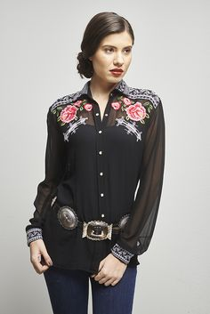 """The """"Dale Evans"""" Blouse by Roja. A classic look for sure!"""