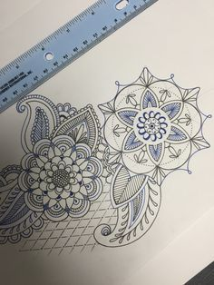 Geometric flowers. Original. Tattoo design. Floral tattoo. Girly tattoo. Tattoo ideas for women. Lace. Thigh. Calf. Thigh. Back.