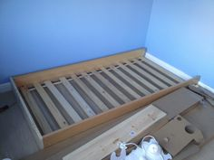 Hottest Free of Charge DIY: How To Make An Ikea Hack Cot With Secret Cave. Thou… - Zimmereinrichtung Ikea Storage Bed, Childrens Cabin Beds, Ikea Bed Slats, Ikea Kids Bed, Ikea Hack Bedroom, Bedroom Loft, Ikea Nordli, Headboard And Footboard, Kid Beds