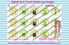 1' Bottle caps (4x6) Digital Lucky charm/ Saint Patricks A445   SAINT PATRICK'S DAY BOTTLE CAP IMAGES  #SAINTPATRICKSDAY #STPATTYS #IRISH #bottlecapimages #bottlecap #BCI #shrinkydinkimages #bowcenters #hairbows #bowmaking #ironon #printables #printyourself #digitaltransfer #doityourself #transfer #ribbongraphics #ribbon #shirtprint #tshirt #digitalart #diy #digital #graphicdesign please purchase via link  http://craftinheavenboutique.com/index.php?main_page=index&cPath=323_533_42_119