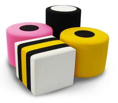 Sweet style: Allsorts ottomans by Davison Highley