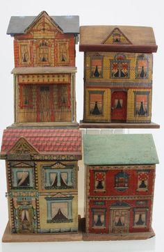 Four Small Dolls' Houses - Bliss, etc.  Rick Maccione-Dollhouse Builder www.dollhousemansions.com
