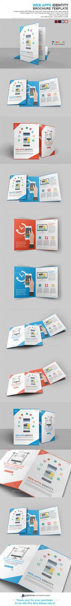mobile app trifold brochure template design download http