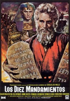 The Ten Commandments 1956 Illustrated Reference Historical Film Movie Posters Movie Posters Minimalist