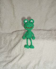 Gratis haakpatroon kikkertje Crochet Frog, Diy Crochet And Knitting, Crochet Gratis, Crochet Toys, Crochet Stitches, Crochet Baby, Free Crochet, Diy Haken, Crochet Dolls