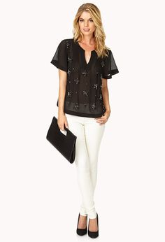 Shine On Georgette Blouse | FOREVER21 - 2000128120