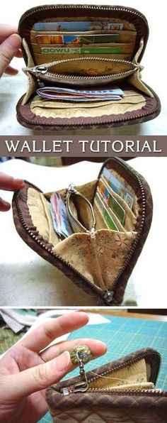 Accordion Purse / Wallet Tutorial. DIY tutorial in pictures. Quilting and patchwork. http://www.handmadiya.com/2015/10/wallet-tutorial.html #diypurse